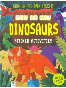 KNOW AND GLOW DINOSAURS STICKER ACTIVITIES