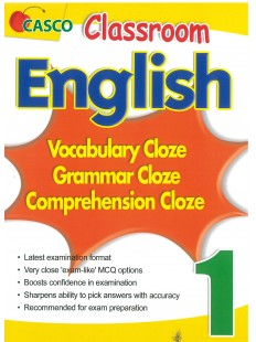 Classroom English Vocab/Grammar/ Comprehension Cloze 1